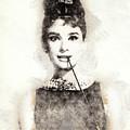 Audrey Hepburn Portrait 01 by Pablo Romero