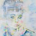 Audrey Hepburn - Watercolor Portrait.16 by Fabrizio Cassetta