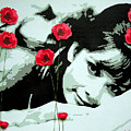 Audrey In Poppies by Samitha Edwards