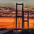 Audubon Bridge Sunrise by Sidney Spires-Mangum