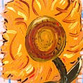 August 7 Late Day Sunflower by Mary Carol Williams