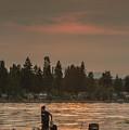 August Sunset Over Yukon Harbor.2 by E Faithe Lester