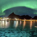 Aurora Above Turquoise Waters by Alex Conu