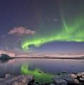 Aurora Borealis And Reflection #2 by Wanda Krack