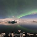 Aurora Borealis And Reflection by Wanda Krack