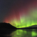 Aurora Borealis Milky Way And Big by Joseph Bradley