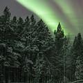 Aurora Borealis Over Finland by Leah Pullen