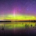 Aurora Borealis Over Lake Sinai by Zach Wicks