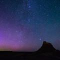 Aurora Borealis Over Lindisfarne Castle by David Head