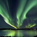 Aurora Borealis Over Tjeldsundet by Arild Heitmann