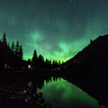 Aurora On Moraine Lake by Alex Lapidus