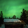 Aurora Storm At The Sapmi Village Karasjok Norway by Adam Rainoff