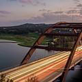Austin 360 Bridge At Night by PorqueNo Studios