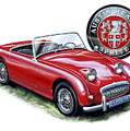 Austin Healey Bugeye Sprite Red by David Kyte