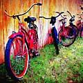 Austin Texas Bikes  -- Original Painting by Mia Hansen