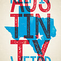 Austin Poster - Texas - Keep Austin Weird by Jim Zahniser