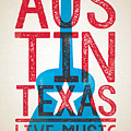 Austin Poster - Texas - Live Music by Jim Zahniser