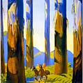 Australia - The Tallest Trees In The British Empire - Marysville, Victoria - Retro Travel Poster by Studio Grafiikka