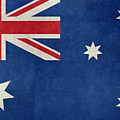 Australian Flag Vintage Retro Style by Bruce Stanfield