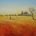 Australian Outback Painting The Way Home  by Chris Hobel