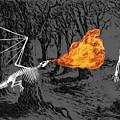 Australopithecus And The Dragon by John Haldane