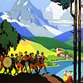 Austria Vintage Travel Poster by Vintage Treasure