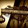Austrian Beer Cellar Sign by Carol Groenen