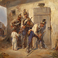 Austrian Dragoons by August von Pettenkofen