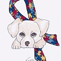 Autism Awareness And Puppy Love by Kathryn Sanderson
