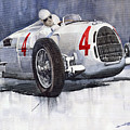 Auto Union C Type 1937 Monaco Gp Hans Stuck by Yuriy Shevchuk