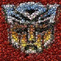 Autobot Transformer Bottle Cap Mosaic by Paul Van Scott