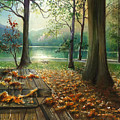 Autum Splendor Bunzen Lake by Dumitru Barliga