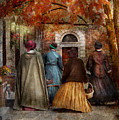 Autumn - People - A Walk Downtown  by Mike Savad