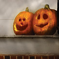 Autumn - Pumpkins - Two Goofy Pumpkins by Mike Savad