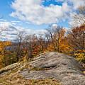 Autumn Above Eagle Bay Ny by David Patterson
