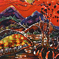 Autumn Adirondack Sunset by Carol Law Conklin