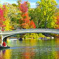 Autumn At Bow Bridge Central Park by Regina Geoghan