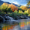 212m47-autumn At Cascade Springs  by Ed  Cooper Photography