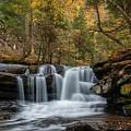 Autumn At Dunloup Creek Falls by Chris Berrier