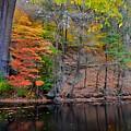 Autumn At Echo Bridge by Corinne Rhode