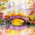 Autumn At Gapstow Bridge Central Park by Melly Terpening