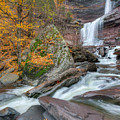 Autumn At Kaaterskill Falls by Bill Wakeley
