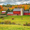 Autumn At Kenniston Farm by John Vose