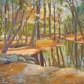 autumn at Kenoza by Leslie Alfred McGrath