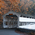 Autumn At Knox Covered Bridge In Valley Forge by Bill Cannon