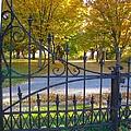 Autumn At The Gates Of Lafayette Park Portrait by Debbie Fenelon