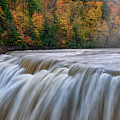 Autumn At The Middle Falls  by Rick Berk