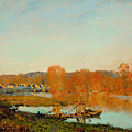 Autumn Banks Of The Seine Near Bougival by Mountain Dreams