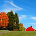 Autumn Barn by Mark Wiley