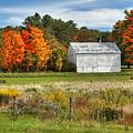 Autumn Barn by Rusty Glessner